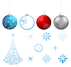 Vector clipart: collection Christmas design elements