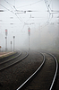 Photo 300 DPI: Fog over railroad tracks