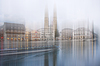 Two-towered church in Zurich | Stock Foto