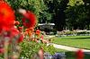 관과 바덴 바덴 (Baden-Baden)의 달리아 공원 | Stock Foto