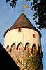 Tower Mäuseturm in Ettlingen   Stock Foto