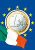 ID 3228118 | Italienische Euromünze und italienische Nationalflagge | Foto mit hoher Auflösung | CLIPARTO
