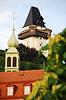 Wieża zegarowa w Grazu | Stock Foto