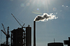 Smoking chimney at industrial plant | Stock Foto