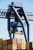 装货港起重机 | 免版税照片