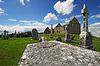 Photo 300 DPI: Church ruins on irish cemetery