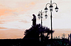 Madonna statue and lantern on the Amalfi coast | Stock Foto