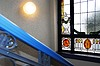 Photo 300 DPI: Art Nouveau window in stairwell