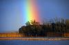 Photo 300 DPI: Rainbow over Holy Island on Shannon