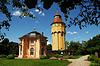 Photo 300 DPI: Pagodenburg and water tower in Rastatt