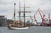 Photo 300 DPI: Three master at the port of Gothenburg