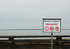 Photo 300 DPI: Danger signs on ocean