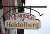 Memories of Heidelberg restaurant sign | Stock Foto