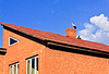 Beautiful stork stand on roof | Stock Foto