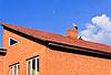 Schöne Storch auf dem Dach stehen | Stock Photo