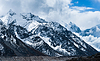 Mountain peaks and glacier in Himalayas | Stock Foto