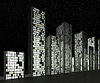 City at night: Abstract skyscrapers | Stock Illustration