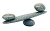 Pebble stability scales with stones | Stock Foto