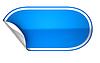Фото 300 DPI: Синий округлые hamous наклейку или этикетку
