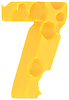 Cheeze font 7 number | Stock Foto