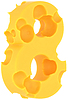 Cheeze font 8 number | Stock Foto
