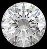 Gemstone: top view of round diamond | Stock Foto