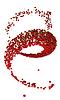 Фото 300 DPI: Вегетарианская пища: красная вишня завиток