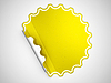 Yellow round hamous sticker or label | Stock Illustration