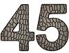 악어 가죽 4 5 자리 숫자를 글꼴을 | Stock Illustration