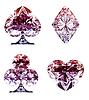 ID 3236216 | Kolorowe liliowy Diament kart Garnitury | Foto stockowe wysokiej rozdzielczości | KLIPARTO