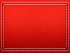 Stitched Rahmen auf dem Roten Leder | Stock Illustration