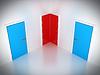Choosing way: conceptual corner door | Stock Illustration