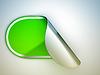 Фото 300 DPI: Зеленая наклейка округлые изогнутый или этикетку