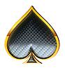 Photo 300 DPI: Spades textured card suits