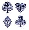 Blue Diamond shaped Card Suits | Stock Illustration