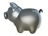 Carbon fiber piggy bank | Stock Illustration