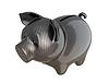 Carbon fiber piggy bank: reliable service | Stock Illustration