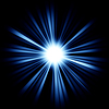Blue Beams of light: shining star | Stock Illustration