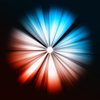 Blue and red Beams of light: shining star | Stock Illustration