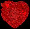 Broken crystal Heart: disease or pain | Stock Illustration