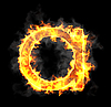 Burning and flame font A letter | Stock Illustration