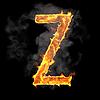 Burning and flame font Z letter | Stock Illustration