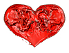Liebe und Romantik: rote Flüssigkeit Herz | Stock Illustration