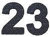 Stitched leather font 2 3 numerals | Stock Illustration