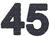 Lederbezug Schriftart 4 5 Ziffern | Stock Illustration