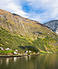 Photo 300 DPI: Life in Norway: fjord, mountains and village