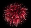 Celebration: red festive fireworks | Stock Illustration