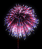 Colorful festive fireworks at night | Stock Illustration