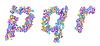 Sweet Candy letras fuentes PQR | Ilustración