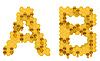 Honey font A and B letters | Stock Illustration